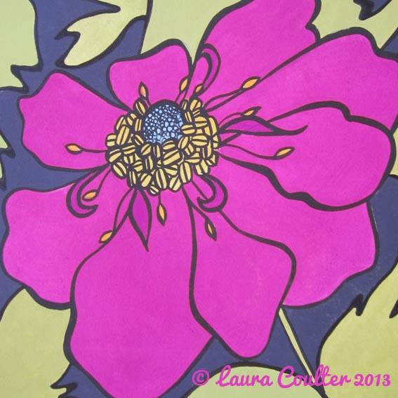 Pink anenome